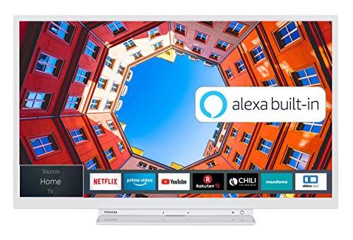 Toshiba 32LK3C64DA 32 Zoll Fernseher (Full HD, Smart TV, Prime Video / Netflix, Alexa Built-In, Bluetooth, WLAN, Triple Tuner), weiß