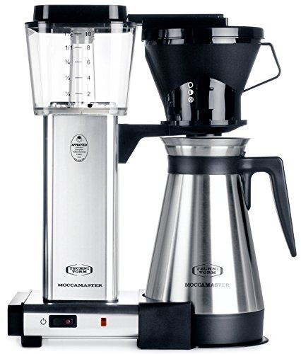 Technivorm Moccamaster 79112 KBT Coffee Brewer, 40 oz, Polished Silver