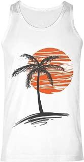 Palm Tree Men's Fitness Tanks Tops T Shirt