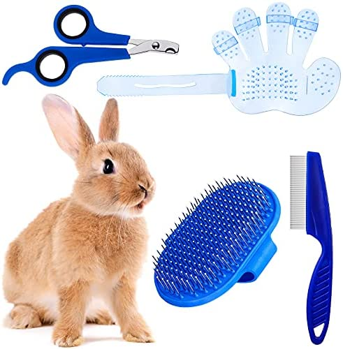 4 Pieces Rabbit Grooming Kit with Rabbit Grooming...