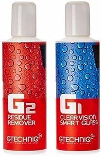 GTechniq G1 ClearVision نانوذرات هیدروفوبیک هوشمند و حذف بقایای G2 شیشه ای هوشمند (2x100 میلی لیتر)