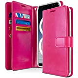 Goospery Mansoor Wallet for Samsung Galaxy Note 8 Case (2017) Double Sided Card Holder Flip Cover (Hot Pink) NT8-MAN-HPNK