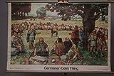 vintage13.de Schulwandkarte Rollkarte Lehrtafel Germanen Beim Thing Rodewald Breyer DDR
