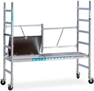 Andamio plegable de aluminio - plataforma con trampilla - 3 m altura de trabajo