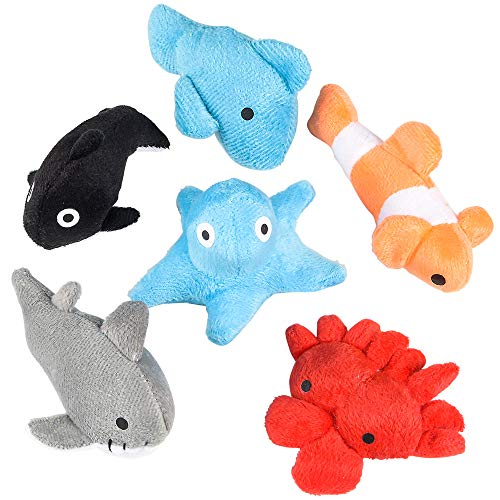 Rhode Island Novelty 3 Inch Sea Life Plush Toys Bag of 24 Pieces