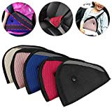 【5 Pack】Car Seat Belt Pads Kit for Kids,Adjustable Vehicle Safety Strap Protector Support Cushion,Safety Strap Protector for Children,Thicker and Softer