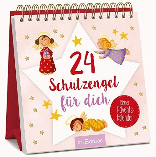 24 Schutzengel für dich - Kleiner Adventskalender zum Aufstellen: Kleiner Aufsteller als liebes Schutzengel-Geschenk in der Adventszeit