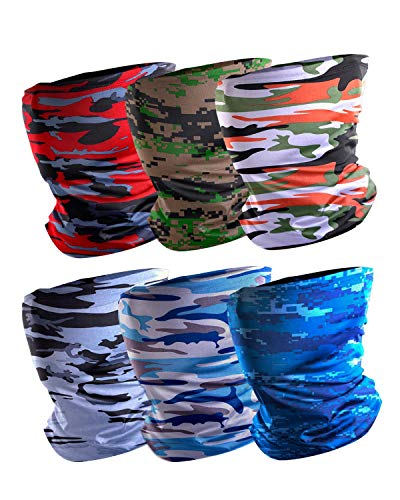 Cooling Neck Gaiters Cool Milk Silk Fabric Camo Outdoor Face Mask, Sun UV Dust Wind Protection Face Gaiter Headwear for Motorcycle Hiking Cycling Ski Snowboard Fishing Running Workout