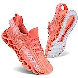 UMYOGO Slip On Breathe Mesh Walking Shoes Women Fashion Sneakers Comfort Shoes Orange Pink