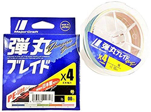 メジャークラフト PEライン 弾丸ブレイド 4本編み マルチカラー DB4-300/1.2MC マルチカラー 300M/1.2号