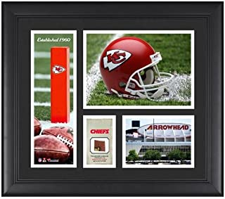 "Kansas City Chiefs Team Logo Framed 15"" x 17"" Collage with Game-Used Football - NFL Team Plaques and Collages"