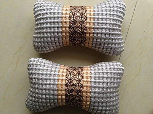 WSS Shoes Reposacabezas de viaje para el cuello del coche, almohada cervical para asiento de coche, cojín para el reposacabezas del asiento del coche, color marrón (color: gris)