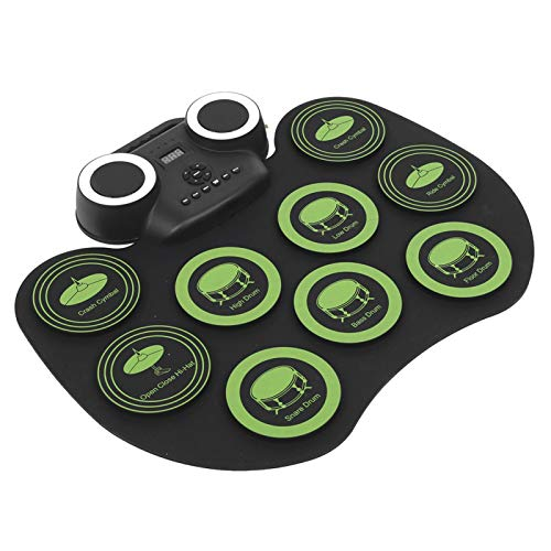 Juego de tambores electrónicos, interfaz USB tipo C, platillos de paso con control de pedal, almohadilla electrónica de tambor, efecto de simulación para teléfono o tableta para músico