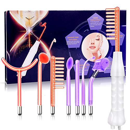 High Frequency Facial Device, Portable Handhold Frequency Device with 7 Wands