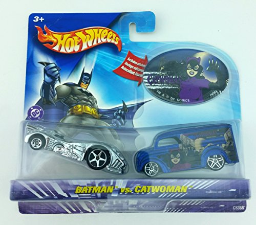 Hot Wheels DC Comics Batman vs Catwoman 1:64 Scale Die Cast Car 2 Pack Mattel