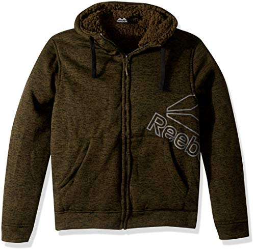 Reebok Herren Double Side Active Monkey Jacket Fleecejacke, Soft Olive, Large