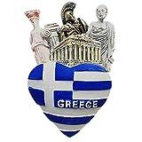 3D-Kühlschrankmagnet mit Nationalflagge von Griechenland, Souvenir, Geschenkkollektion, Heim- & Küchendekoration, Magnetaufkleber, Athen, Griechenland, Kühlschrankmagnet