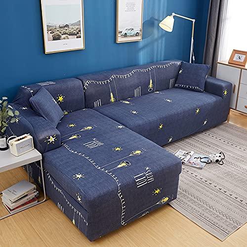 Funda de sofá elástica seccional elástica para sofá de Sala de Estar Funda de sofá en Forma de L Funda de sillón A13 2 plazas