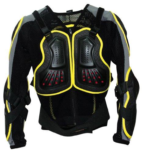 gp-pro jóvenes Moto-X pantalla chaqueta borde amarillo mediana/grande (vsps025)
