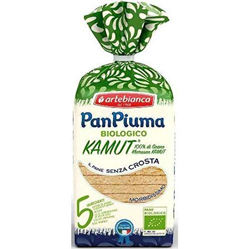 4 x 280gr 'ARTE BIANCA PANPIUMA' PANE A FETTE BIO 100% KAMUT