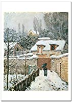 世界の名画 アルフレッド・シスレー ルーヴシエンヌの雪Snow at Louveciennes ジークレー技法 高級ポスター (B2/515ミリ×728ミリ)