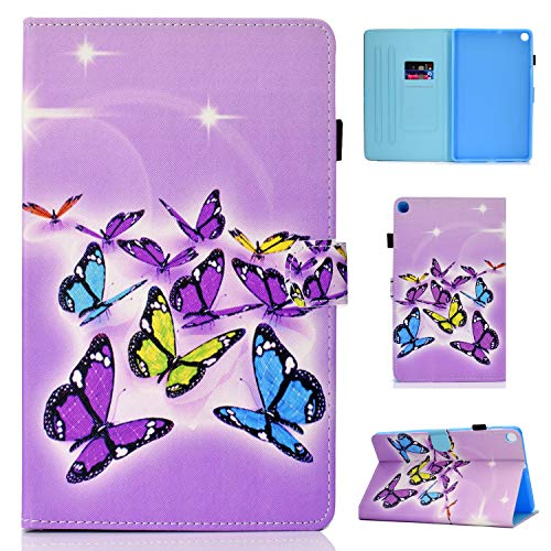 Hfly Compatible with Samsung Galaxy Tab A7 Case 10.4-inch SM-T500/ T505, New PU Leather Shell Case Fold Stand Shockproof Protective Case for Galaxy Tab A7 10.4 (2020) [OJI]