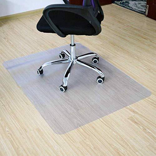BigTron Bodenschutzmatte für Hartholzboden, Transparent Bürostuhl unterlage PVC matt, BPA frei, 90 x 120 cm