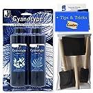 Jacquard Cyanotype Sensibilisierungs-Set mit Royal & Langnickel Schaumstoffpinsel, 3er-Pack