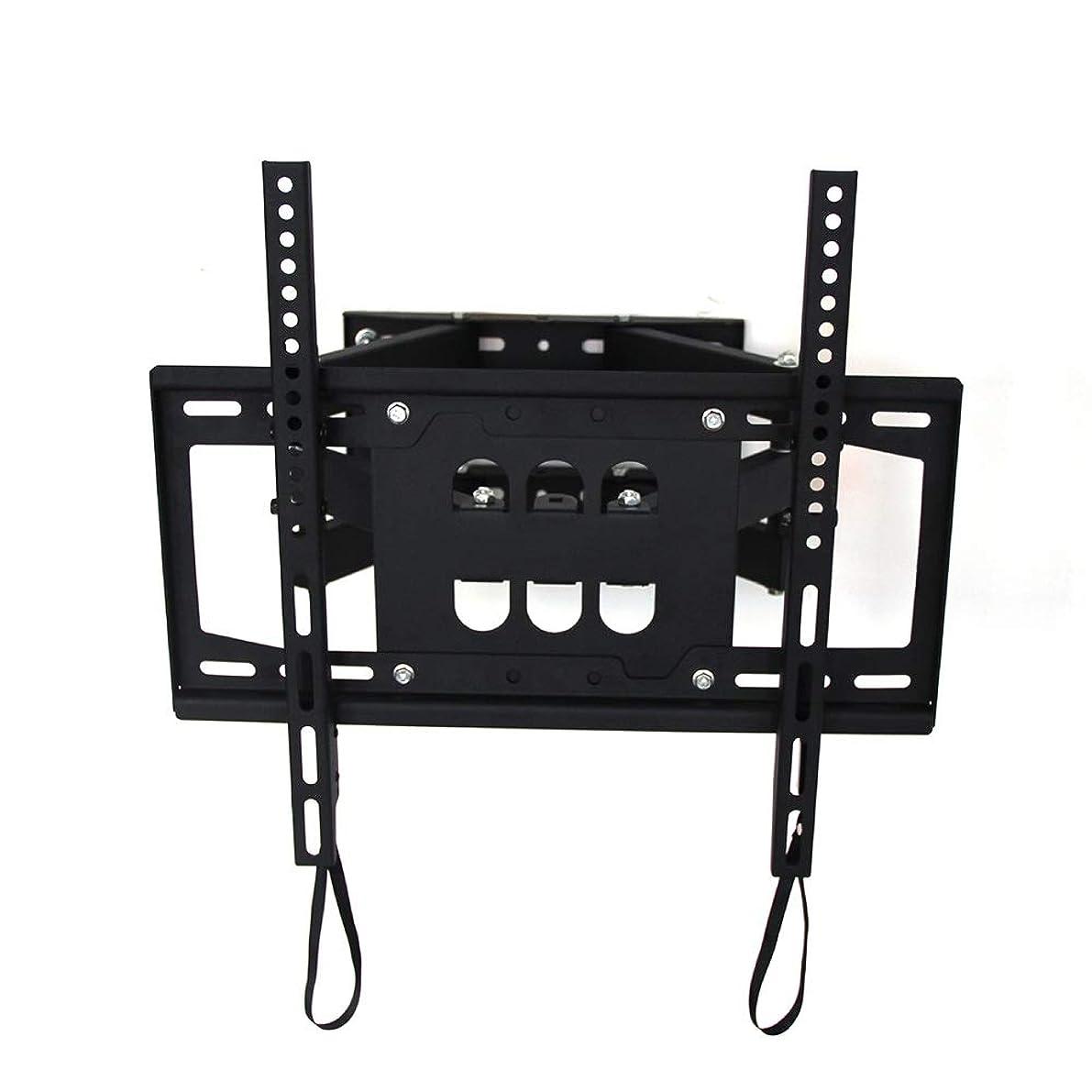 協同爆発物コンパクトテレビスタンド 液晶テレビ台 26から65インチのテレビフラットスクリーンテレビのための耐久性のテレビウォールマウントブラケット (Color : Black, Size : 26-65 inches)
