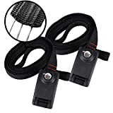 Sports Lockable Tie Down Strap, 2 Pack Upgraded Locking Tie Downs with 3 Stainless Steel Cables, Car Roof Rack Straps for Taking Surfboard, Paddle Boards, Kayak, Bike, Canoes, 10 Feet Each (10 FT)