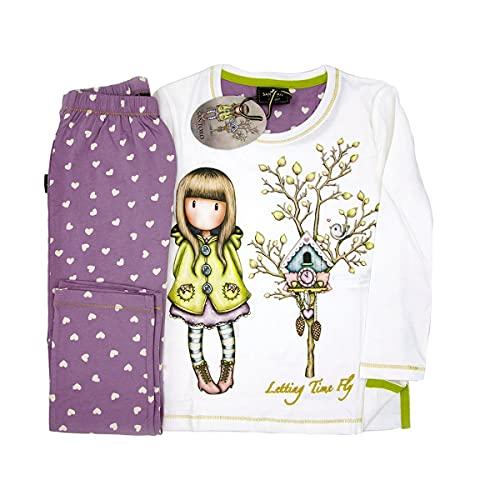 Santoro Gorjuss Pijama de 2 piezas de camiseta + pantalón de algodón Otoño Invierno Original y Autentico, ideal para niña/mujer, en bonita caja de regalo (54490, S)