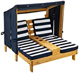 KidKraft Wooden Outdoor Double Chaise Lounge with Cup Holders, Gift for...