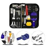 URXTRAL, WT0001, kit de reparación de relojes de 144 piezas, juego de herramientas profesionales para muelles, con funda de transporte, 145 piezas