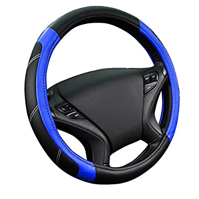 NEW ARRIVAL- CAR PASS Line Rider Leather Universal Steering Wheel Cover fits for Truck,Suv,Cars