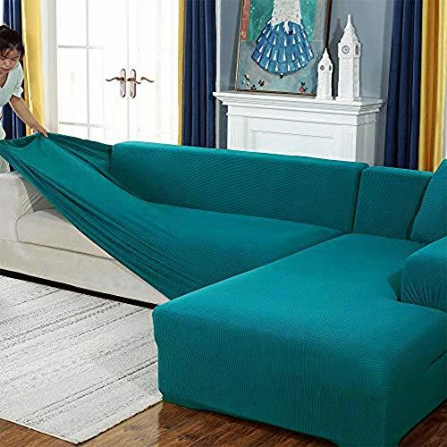 Sofabezug, Eck Stretch-Sofabezug Stretch Sofabezug für 1/2/3/4 Sitzer(L-förmiges Ecksofa erfordert Zwei)