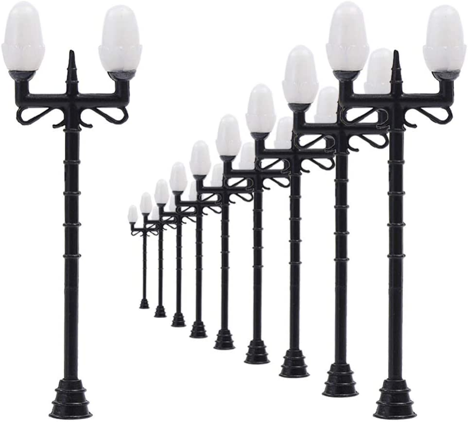 HDHUIXS Wonderful LNH35 10pcs High material Model At the price of surprise Lamppost Lamps Railway Stree