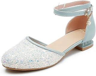 BalaMasa Womens ASL06353 Leather Block Heels