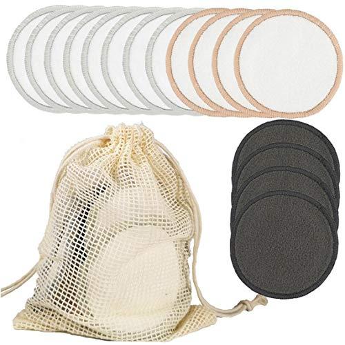 ZYCX123 Almohadillas de algodón Maquillaje de ratón de bambú Toallas Sanitarias removedor de Maquillaje Facial de la Esponja Toallitas scrubbedsing para el Maquillaje de Belleza Productos de Belleza