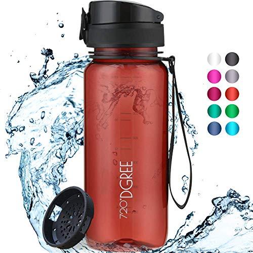 """720°DGREE Trinkflasche """"uberBottle"""" crystalClear +Sieb - 1000ml - BPA-Frei - Wasserflasche für Sport, Gym, Fitness, Fahrrad, Outdoor, Uni - Sportflasche aus Tritan - Leicht, Bruchsicher, Nachhaltig"""
