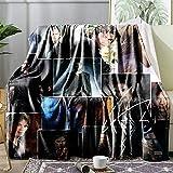 Blanket Carpet Soft Throw Fleece Blankets for Gift Bed Sofa 80'X60' Lightweight Flannel Blanket Bedding