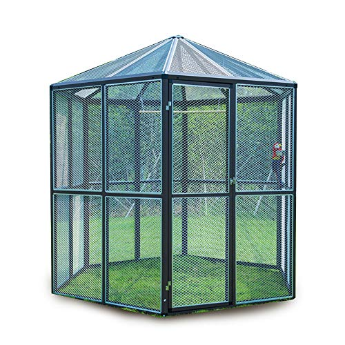 Talis Large Deluxe Bird Cage Backyard Pet House Proof Wire Mesh Outdoor Aviary Flight Bird Cage for Parrot Finch Macaw Cockatiels Cage Big Vision Bird Enclosure Cage Stand Chameleon Cages Kennel