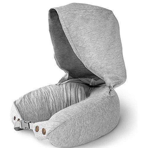 KSW_KKW Importado de látex con Capucha en Forma de U Almohada Cervical Almohada, Ultra Confort en el avión, Coche, Tren, Viaje Oficina Almohada