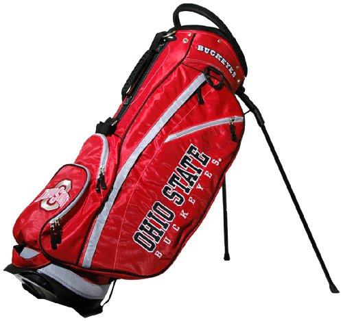 Team Golf NCAA Ohio State Buckeyes Fairway Golf Stand Bag, Lightweight, 14-way Top, Spring...