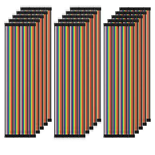 AZDelivery 5 x Jumper Wire Kabel Set à 120 Stück je 20 cm M2M/ F2M / F2F für Raspberry Pi Breadboard inklusive E-Book!