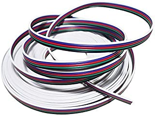 LEDENET 22AWG 5pin 33FT 10m Extension Cable Line for 5 Color RGBW LED Strip Lights Wire 3528 5050
