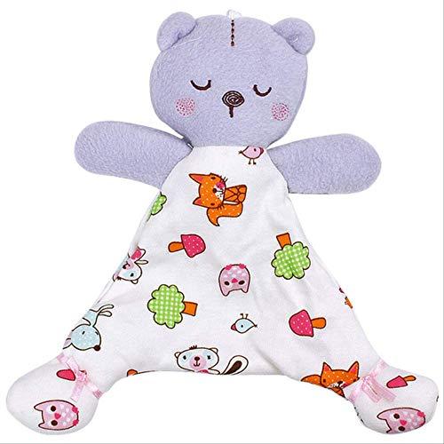 Handtücher ZWRY Baby-Spielzeug Für Bär Beruhigende Handtuch Weiche Baby-Puppe Für Neugeborene Süße Cartoon Tier Kinder Kinderwagen Spielzeug 20 * 24,5 * 8cm Purple-Animal