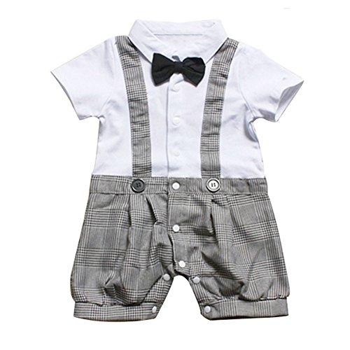 Le SSara BebépajaritacaballeroniñosmamelucoconjuntoPlaidtrajedeverano (9-12 meses, blanco)