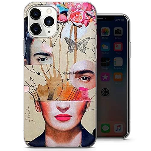 Cekell para Frida Kahlo Caja de teléfono de Gel Suave, para iPhone 12 11 x 8 7 más Casco de teléfono Transparente, Cubierta Posterior