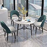 Modern Accent Dining Room Accent Chairs Set of 3 Flannel Mid-Century Rembourré Side Seat Club Guest with Metal Legs Foot Cap Protection and Hollow Back - Bearing 300LBs
