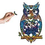 Seasons Shop Owl Unique Animal Shape Parts Sticker Puzzle Rompecabezas de forma única Piezas Adultos y niños Owl Puzzle, Best For Family Game Collection
